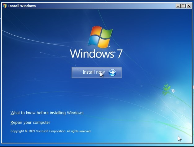 Upgrade and Install Windows 7