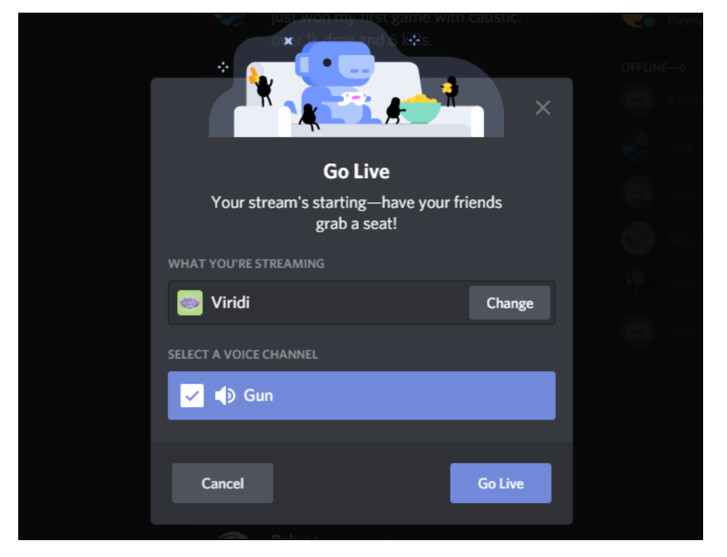how to appear offline on Discord