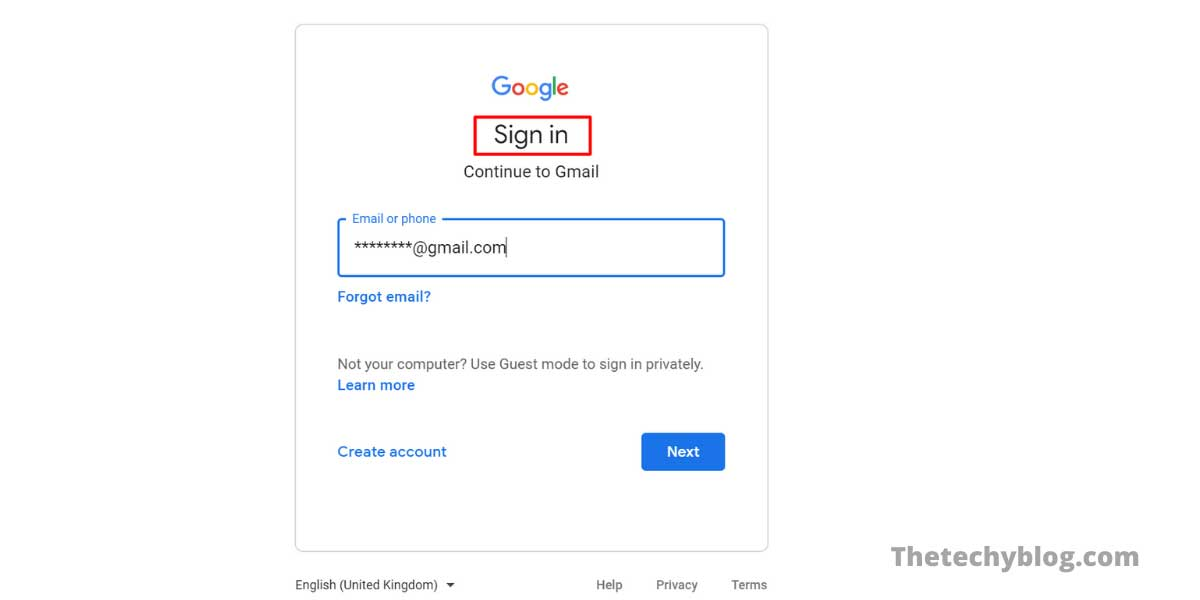 Login to your Gmail id