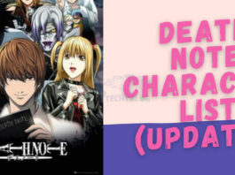 Death note characters