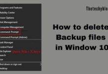 Ways to delete Back up files